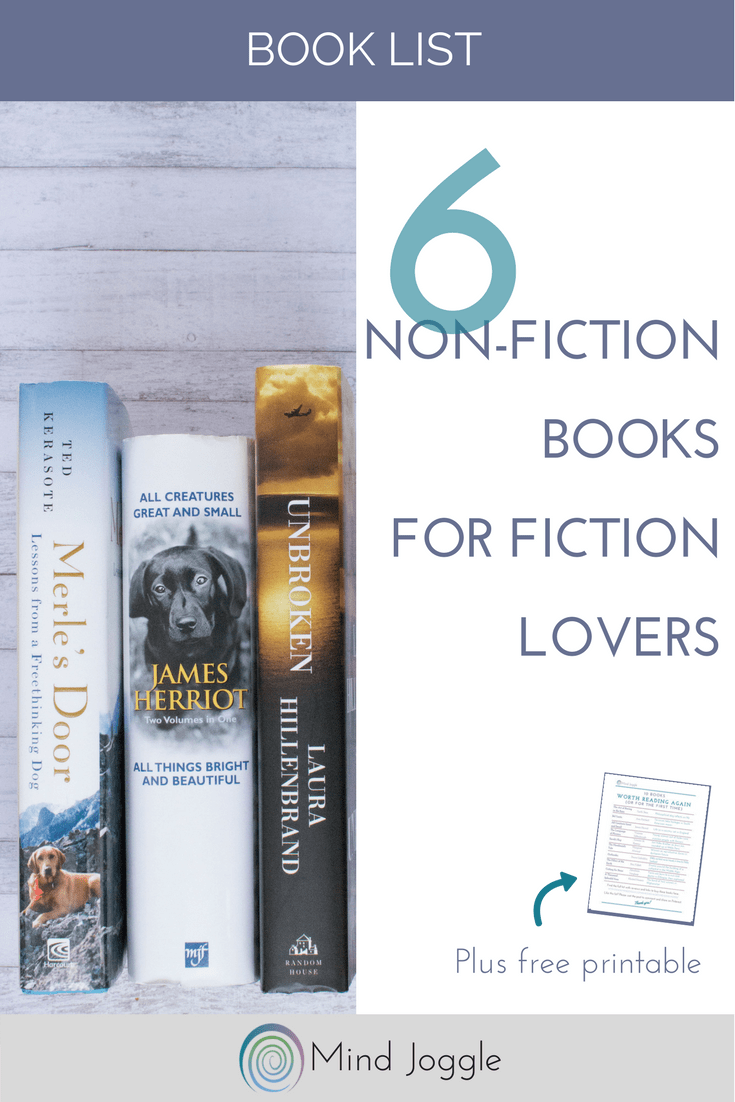 6 Non-Fiction Books for Fiction Lovers | MindJoggle.com