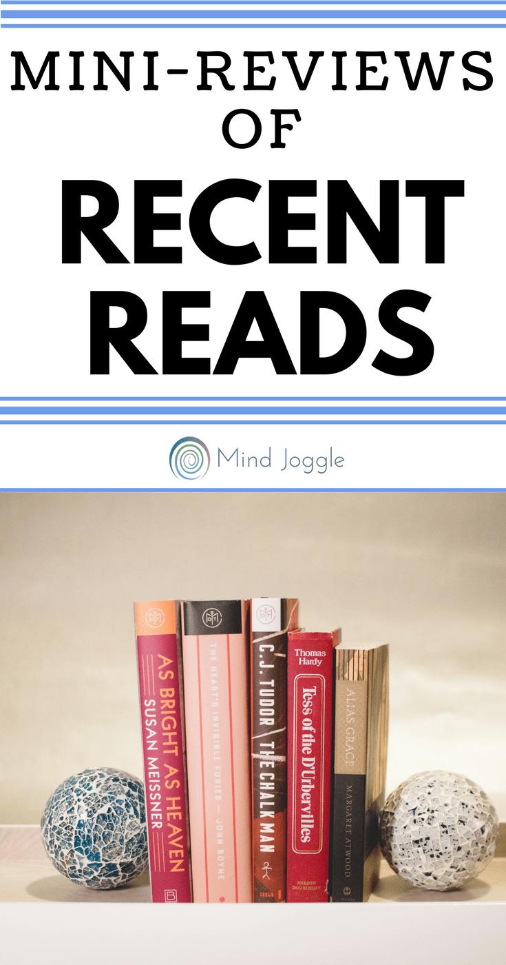 Mini-Reviews of Recent Reads | MindJoggle.com